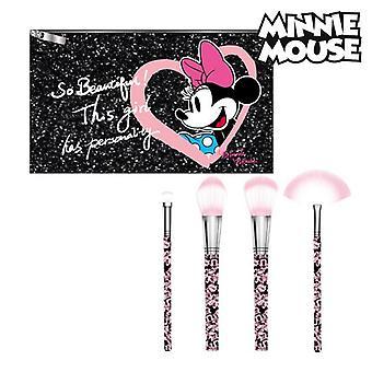 Conjunto de pinceles de maquillaje Minnie Mouse (5 uds) Negro