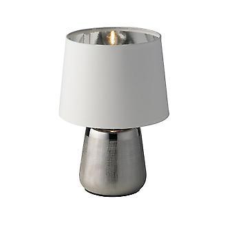 Europe Ecstasy - Keramisk Bordslampa med tygskugga, Grå, Silver, E14
