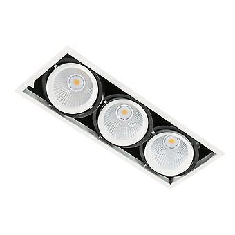Moderne technische LED verzonken plafond wit, zwart, warm wit 3000K 4200lm