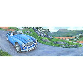 Austin Healey Poster Print by Peter Adderley