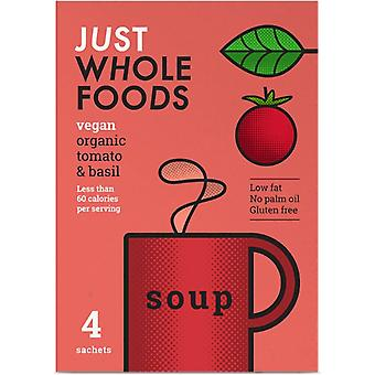 Just Wholefoods Biologische Vegan Tomato & Basil Soup 17g (8x4)