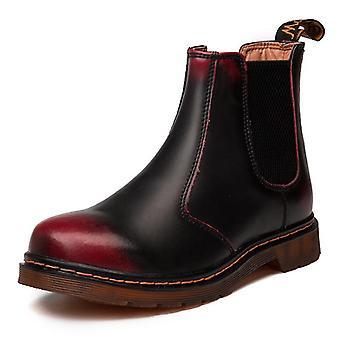 Autumn Winter Leather Chelsea Comfortable Boots, Men Casual Shoes