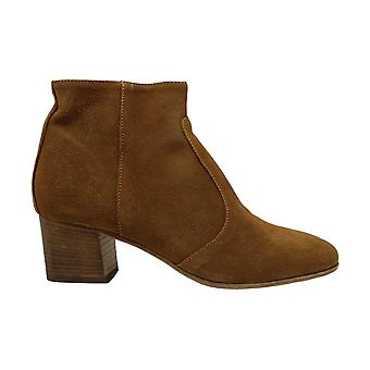 Steve Madden Womens Luanne Suede Almond Toe Ankle Fashion Boots