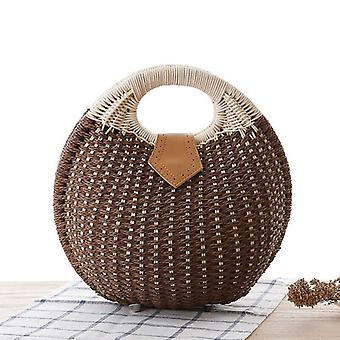 Summer Shell, Straw Handmade, Rattan Woven Handbags And Purses
