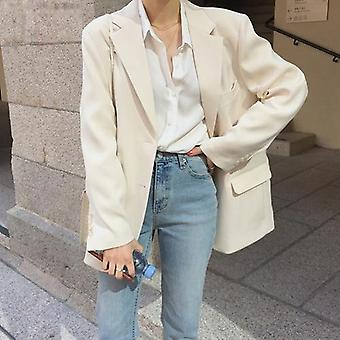 Loose Outerwear Women Suit Jacket, Spring, Summer Female Suit, Chic