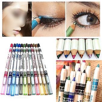 12x joukko väri Glitter Eyeliner Lyijykynät Eyeliner Lipliner Browliner Kosmeettinen Meikki Set