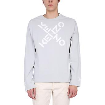 Kenzo Fb55ts1534sk93 Men's Grey Cotton Sweater