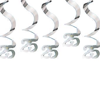 Amscan Pyörittele 25 hääpäivä koristelu