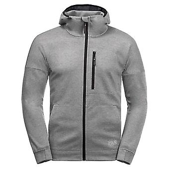 Jack Wolfskin Riverland Mens Hooded Jacket Grey Track Top 1707231 6111