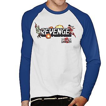 Sega Hevn av Shinobi Menn's Baseball Langermet T-skjorte