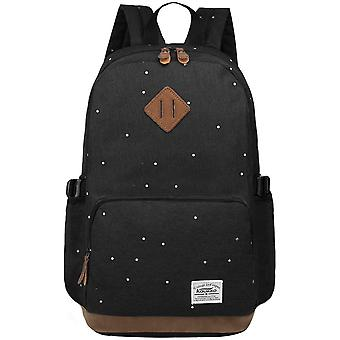 S-Zone 15.6 Inch Laptop Classical Stylish Fashion Students Large Lightweight School Backpack