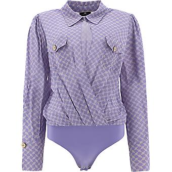Elisabetta Franchi Cb01411e2q45 Women's Lilac Viscose Bodysuit
