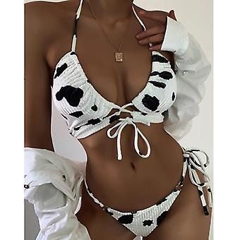 Cow Printed Swimsuit Sexy Bikini