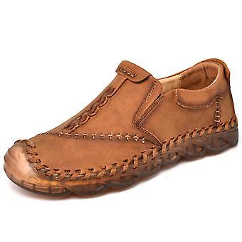 Zapatos Casual para Hombre Mocasines de Cuero 3038 Marrón