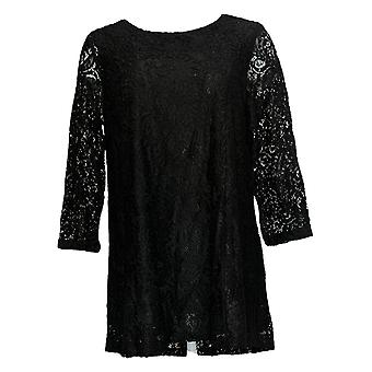 Joan Rivers Classics Collectie Dames's Top 3/4 Sleeves Black A297991