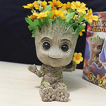 Flower Pot Baby Groot  Big Cute Toy Pen Holder Pvc Baby Tree Man Garden Plant