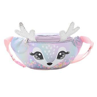 Cute Elk Female Waist Bag, Kids Fanny Pack Cartoon Belt Bag