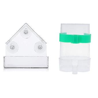 Acrylic Transparent Window Viewing Bird Feeders Tray, Birdhouse, Pet Water