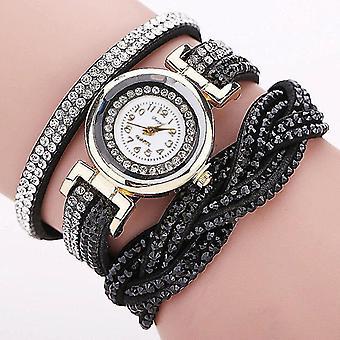 DUOYA D056 Crystal Retro Style Ladies Bracelet Watch Dress Quartz Watches
