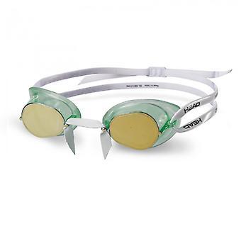 نظارات TPR السويدي رئيس سباقات السباحة الأخضر-عدسة معكوسة-