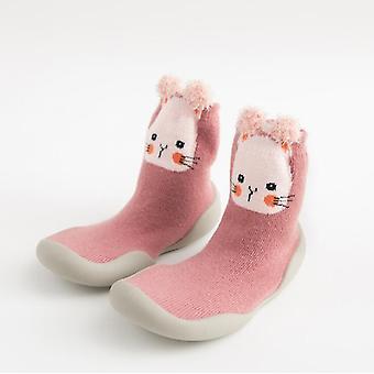 أحذية طفل صغير، غير زلة فوكس النمر، سماكة سوك حذاء الكلمة، الجوارب القدم،