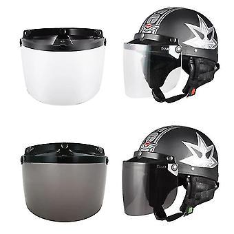 Universal 3 snap flip up visir sköldlins för retro öppen ansikte motorcykel hjälm