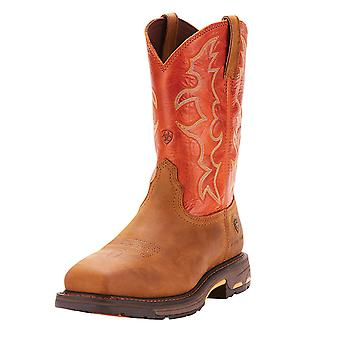 Ariat Mens Workhog Leather Steel toe Pull On Safety Shoes