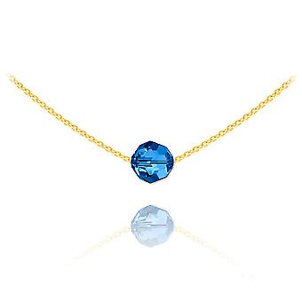 24K gold capri blue choker necklace