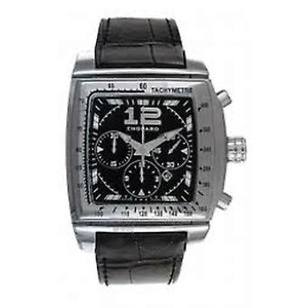 Chopard Two O Ten Black Dial Chronograph Alligator Leather Men's Watch 168462-3001