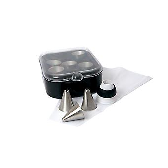 Swift 10 Piece Deluxe Icing Set with brushed steel nozzles