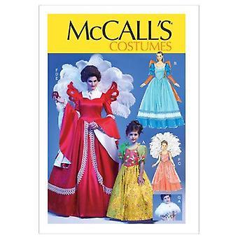 McCalls Schnittmuster 6629 0240 Kinder Mädchen Prinzessin Königin Kostüme Größe 3-8