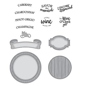 Spellbinders Stamp and Die Set - Stacey Caron Wine Country - Barrel of Sentiments