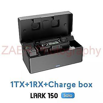 Hollyland lark 150 sólo 2.4ghz bezdrôtový mikrofón kit s nabíjacím boxom lark150 sólo lavalier mikrofón pre video živé pre smartphone