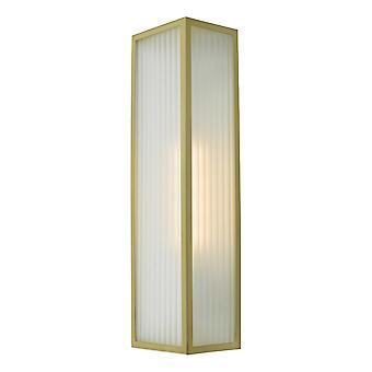 DAR KEEGAN Linterna Lámpara de Pared Satin Latón IP44, 1x E27