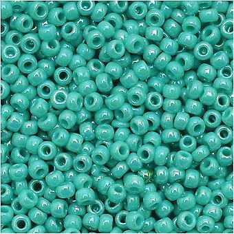 Toho Round Seed Beads 11/0 413 'Opaque Rainbow Turquoise' 8 Gram Tube