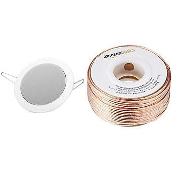 Wokex 50110 Lautsprecher DL 10 8 Ohm weiß Amazon Basics Lautsprecherkabel 1,3 mm2 / 16 Gauge,