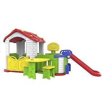 Gartenspielset mit Hütte und Rutsche – Outdoor-Spielzeug
