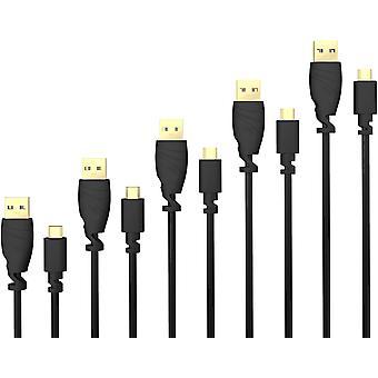 FengChun Micro USB Kabel 5X 0,5m (USB 2.0, Ladekabel, Datenkabel, schwarz) TOP Serie