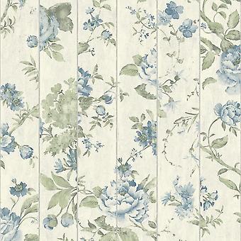 Floral Rose Flower Pattern Wallpaper