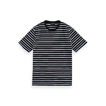 Scotch & Soda Classic Patterned Cotton-Jersey Crewneck t-Shirt, 0220 Combo D, S Men's