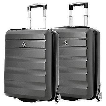Aerolite (55x40x20cm) léger bagage à main de cabine à coque dure - ensemble x2