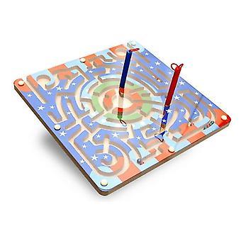 Lemn netic margele mingea stilou Maze Joc jucării educative pentru copii mici Kid| Seturi de instrumente pentru construirea modelelor