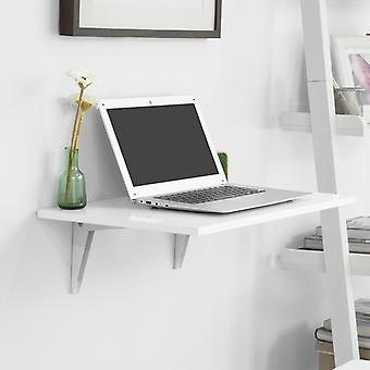 SoBuy Wood Tavolo da lettura pieghevole a parete bianco, FWT21-W