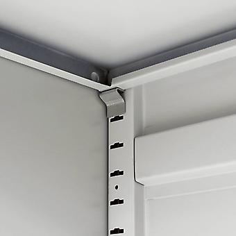 vidaXL archiefkast 90×40×140 cm staalgrijs