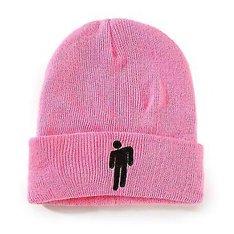 Ružová vhodná pre jesenné a zimné pletené klobúky hatswoolen hatseuropean a americkí muži x2876