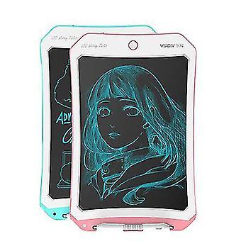 Rózsaszín+fehér 8,5 hüvelykes lcd rajztábla, intelligens, kézzel festett tábla gyermekgraffiti íráshoz az5943