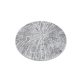 حديث MEFE سجادة دائرة 2784 شجرة الخشب - هيكل مستويين من الرمادي الصوف