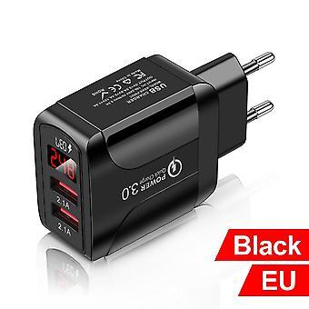 Qc 3.0 4.0 شاحن USB شحن سريع الهاتف المحمول محول الشحن السريع لفون 12 xiaomi eu/us/uk توصيل شاحن الهاتف المحمول