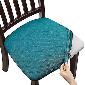 Seat Covers For Dining Room Chairs Stretch Jacquard Dining Chair Seat Covers(Blue)