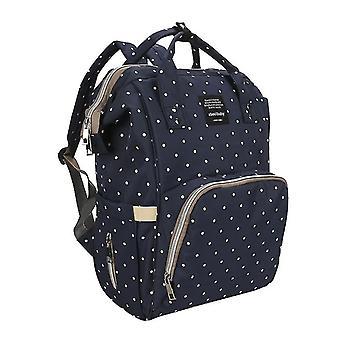 Waterproof Large Capacity Diaper Backpack(Blue)